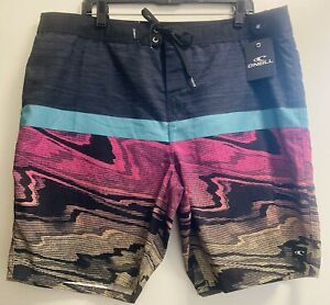 "O'NEILL GLITCH 20"" BOARDSHORTS MENS SIZE 40 FA9106009 Striped Surf Shorts New XL"