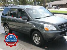 2003-2008 Honda Pilot 4Pc Chrome Window Sill Trim Accent Stainless Steel Overlay