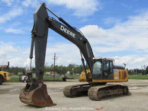 2015 John Deere 380G LC Hydraulic Excavator Cab A/C Trackhoe Tractor bidadoo
