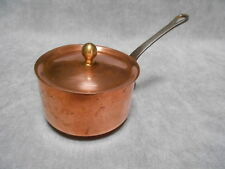 Vintage french COPPER SAUCE PAN & LID