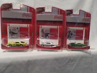 "RARE JOHNNY LIGHTNING ""COCA-COLA"" LOT OF 3 ""WHAT A RIDE"" RELEASE 2 DIE-CAST CARS"