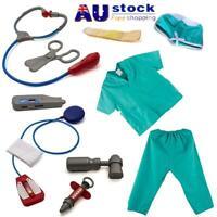 Child's Doctor Dress up Surgeon Costumes Pretend Play Toys Blue 11PCS/Set AU!