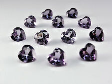 Alexandrite 8x8mm Heart Shape Cut Loose CZ Stones Color Change Gemstones