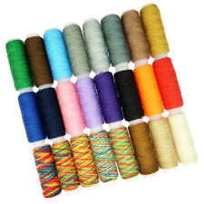 24 Spools Mixed Colors 100% Polyester Sewing Quilting Thread Set All Purpose
