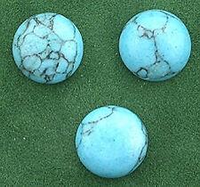 3- 10mm Synthetic Turquoise Cabochon Gem Stone Gemstone