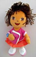 "ty 2007 Dora The Explorer 9"" Beanie DORA Doll Soft Plush Toy"