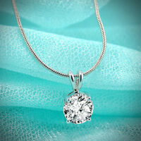 Elegant Women Zircon Pendant Choker Chain Bib Statement Necklace Fashion Jewelry