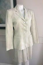 Barami Suit Jacket Skirt Ivory 100% polyester ~ Sz 6 ~ NWT  ~