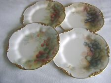 New Listing4 J.P. Limoges France Handpainted Cabinet Plates Fruits Gold Trim Artists Signed