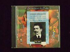 CERVANTES: LA MUSICA DE CUBA, DANZAS FOR PIANO, Ruben Pelaez, Piano, Elan, 1996