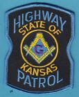 KANSAS HIGHWAY PATROL MASON MASONIC POLICE PATCH   for sale
