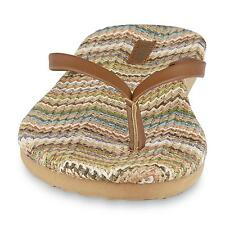 Joe Boxer Women's Dakota Camel / Brown Flip-Flop Sandal, (7/8 M)