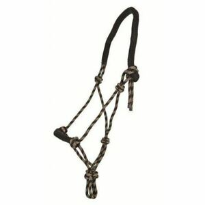 Knotted Rope Halter Headcollar Horse Training Bitless Thick Padded Nose Neck