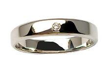 Anello matrimonio in oro bianco n. 2 anelli per sposi fedi nuziali con diamante