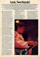 Stanley Jordan UK 'Guitarist' Interview Clipping TRANSPARENCY