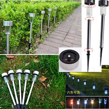 Solar Power Color Changing LED Path Lights Outdoor Garden Lawn Lamp Light