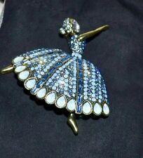 """New $180 HEIDI DAUS """"Dreams Come True"""" Ballerina Brooch Pin SWAROVSKI CRYSTALS"""