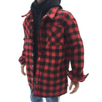 "1/6 Scale Male Plaid Shirt Men Jacket Casual Wear for 12"" Action Figure Toys"