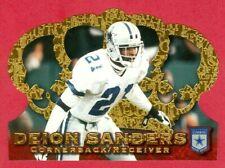 1996 PACIFIC (FB) Deion Sanders SP CROWN ROYALE DIE-CUTS FOIL CARD #CR-55 HOF'er
