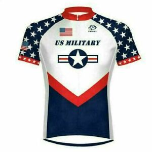 Primal Wear US Military Team Men's 3/4 zip Sport Cut Cycling Jersey - Size Small