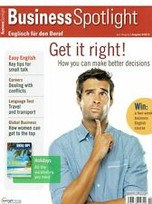Business Spotlight 4 2013 English Better decisions Small talk Conflicts Travel t
