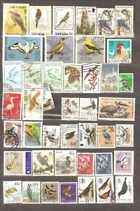 Birds: selection of 44 various used stamps, different countries/ years, Lot 5