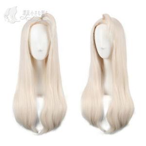 Anime FAIRY TAIL Mirajane·Strauss Cosplay creamy white Wig hair Harajuku