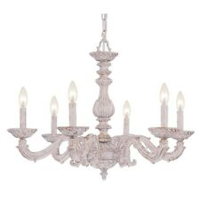Crystorama Paris Market 6 Light Antique White Chandelier - 5126-AW