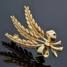 Vintage Tiffany & Co. 18K Yellow Gold Wheat Bow Pin/Brooch