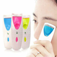 Electric Automatic Long Lasting Heated Eyelash Eye Kit Makeup Curler Lashes B7K8