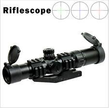 Mira Para Rifle 1.5-4x30 táctica Chevron retícula con montaje de Anillo Offset Weaver