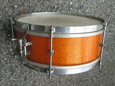 "Vintage 1960s GOLD SPARKLE 13"" x 5""  'Student' Snare Drum JAPAN !  RARE SIZE !"