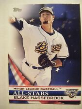 BLAKE HASSEBROCK #AS-BHK 2012 Topps Pro Debut All-Stars baseball card HIGH POINT