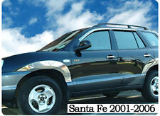 Chrome Fender Garnish Molding Trim Wheel Kit For 2001 2006 Hyundai Santa Fe