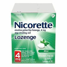 Nicorette Lozenge 2mg Mint (LARGE 144 Lozenges) *SEALED* 11/2018 Free shipping