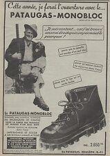 Publicité de presse Chaussures PATAUGAS - MONOBLOC French Ad 1952