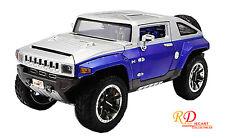 HUMMER HX CONCEPT SILVER/BLUE METALLIC 1/18 DIECAST MODEL CAR BY MAISTO 32117