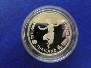Thailand 200 Bath 1981 Jahr des Kindes Silber * Proof *