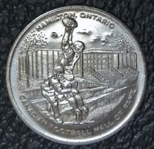 1972 HAMILTON, Ont. CANADIAN FOOTBALL HALL OF FAME - Grey Cup $1 Token - Nice