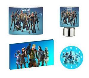 FORTNITE b - Light Shade ,Touch Lamp, Wall Art, Wall Clock or Bundle