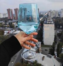 2pcs Blue Wine Champagne Glass For Home Or Celebrations
