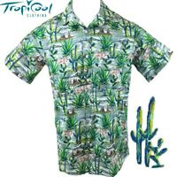 Cactus Mexican Cotton Mens Hawaiian Shirts