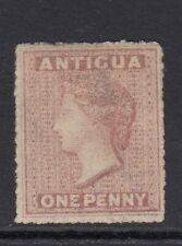 ANTIGUA-1863-67 1d Dull Rose Sg 6 unused no gum