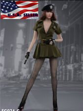 "1/6 Military Dress Costumes Set C For 12"" PHICEN TBL VERYCOOL Female Figure❶USA❶"