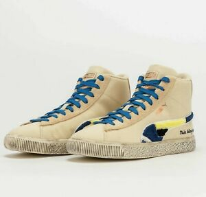 PUMA Clyde Mid x Black Fives Creme Brulee 381956 01 Basketball Shoes Sneakers