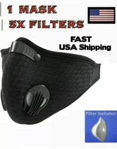 Workout Mask For Running Sport Fitness With 5 Filters Included BLACK!!