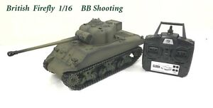 Radio Remote Controlled RC Tank 2.4G British Sherman Firefly 1/16 with 4 Sounds