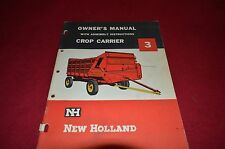 New Holland 3 Crop Carrier Forage Wagon Operator's Manual GDOH