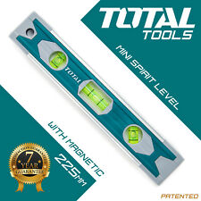 Total des outils-Aimant Spirit Level 225 mm Corps en aluminium Mini Spirit 3 Fla...