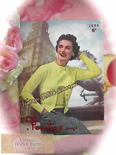 """Vintage 1950s Knitting Patten Lady's """"Melody"""" Twinset  Of Cardigan & Jumper."""